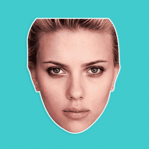 Sad Scarlett Johansson Mask - Perfect for Halloween, Costume Party Mask, Masquerades, Parties, Festivals, Concerts - Jumbo Size Waterproof Laminated Mask