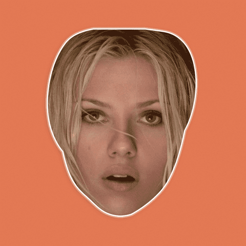 Surprised Scarlett Johansson Mask - Perfect for Halloween, Costume Party Mask, Masquerades, Parties, Festivals, Concerts - Jumbo Size Waterproof Laminated Mask