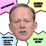 Excited Sean Spicer Mask - Perfect for Halloween, Costume Party Mask, Masquerades, Parties, Festivals, Concerts - Jumbo Size Waterproof Laminated Mask