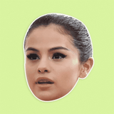 Angry Selena Gomez Mask - Perfect for Halloween, Costume Party Mask, Masquerades, Parties, Festivals, Concerts - Jumbo Size Waterproof Laminated Mask