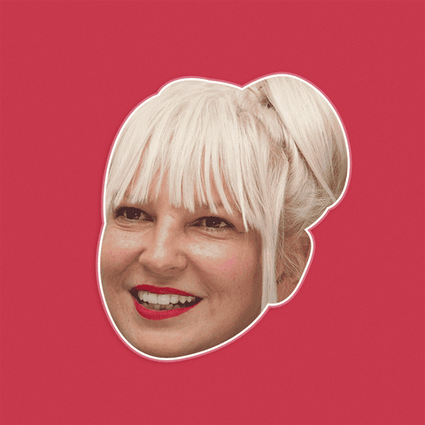 Confused Sia Mask - Perfect for Halloween, Costume Party Mask, Masquerades, Parties, Festivals, Concerts - Jumbo Size Waterproof Laminated Mask