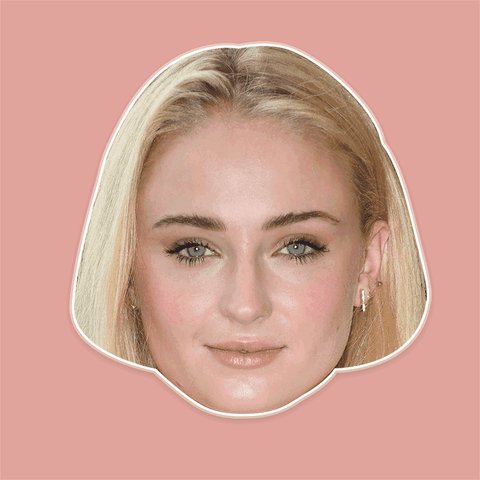 Cool Sophie Turner Mask - Perfect for Halloween, Costume Party Mask, Masquerades, Parties, Festivals, Concerts - Jumbo Size Waterproof Laminated Mask