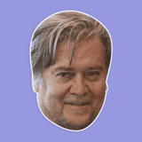 Happy Stephen Bannon Mask - Perfect for Halloween, Costume Party Mask, Masquerades, Parties, Festivals, Concerts - Jumbo Size Waterproof Laminated Mask