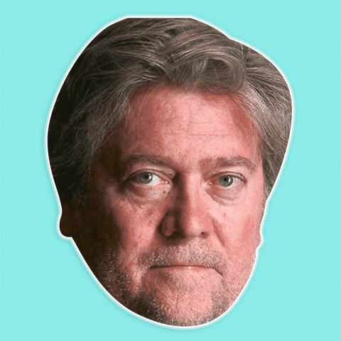 Surprised Stephen Bannon Mask - Perfect for Halloween, Costume Party Mask, Masquerades, Parties, Festivals, Concerts - Jumbo Size Waterproof Laminated Mask