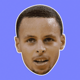 Serious Stephen Curry Mask - Perfect for Halloween, Costume Party Mask, Masquerades, Parties, Festivals, Concerts - Jumbo Size Waterproof Laminated Mask