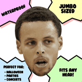 Angry Stephen Curry Mask - Perfect for Halloween, Costume Party Mask, Masquerades, Parties, Festivals, Concerts - Jumbo Size Waterproof Laminated Mask