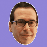 Serious Steven Mnuchin Mask - Perfect for Halloween, Costume Party Mask, Masquerades, Parties, Festivals, Concerts - Jumbo Size Waterproof Laminated Mask