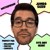 Disgusted Tai Lopez Mask - Perfect for Halloween, Costume Party Mask, Masquerades, Parties, Festivals, Concerts - Jumbo Size Waterproof Laminated Mask