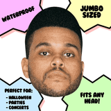 Confused The Weeknd Mask - Perfect for Halloween, Costume Party Mask, Masquerades, Parties, Festivals, Concerts - Jumbo Size Waterproof Laminated Mask