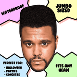 Silly The Weeknd Mask - Perfect for Halloween, Costume Party Mask, Masquerades, Parties, Festivals, Concerts - Jumbo Size Waterproof Laminated Mask