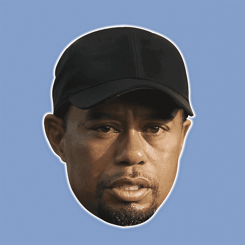 Sad Tiger Woods Mask - Perfect for Halloween, Costume Party Mask, Masquerades, Parties, Festivals, Concerts - Jumbo Size Waterproof Laminated Mask