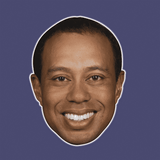 Sexy Tiger Woods Mask - Perfect for Halloween, Costume Party Mask, Masquerades, Parties, Festivals, Concerts - Jumbo Size Waterproof Laminated Mask