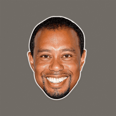 Surprised Tiger Woods Mask - Perfect for Halloween, Costume Party Mask, Masquerades, Parties, Festivals, Concerts - Jumbo Size Waterproof Laminated Mask