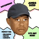 Bored Tiger Woods Mask - Perfect for Halloween, Costume Party Mask, Masquerades, Parties, Festivals, Concerts - Jumbo Size Waterproof Laminated Mask
