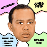 Confused Tiger Woods Mask - Perfect for Halloween, Costume Party Mask, Masquerades, Parties, Festivals, Concerts - Jumbo Size Waterproof Laminated Mask
