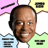 Happy Tiger Woods Mask - Perfect for Halloween, Costume Party Mask, Masquerades, Parties, Festivals, Concerts - Jumbo Size Waterproof Laminated Mask