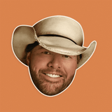 Cool Toby Keith Mask - Perfect for Halloween, Costume Party Mask, Masquerades, Parties, Festivals, Concerts - Jumbo Size Waterproof Laminated Mask