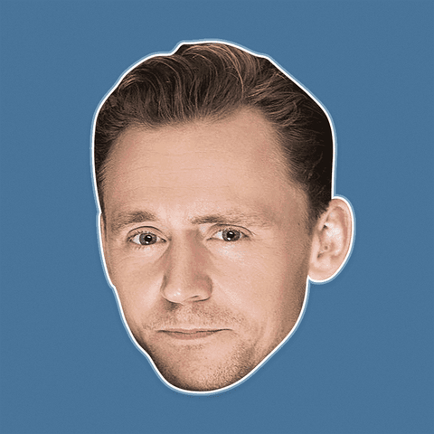 Disgusted Tom Hiddleston Mask - Perfect for Halloween, Costume Party Mask, Masquerades, Parties, Festivals, Concerts - Jumbo Size Waterproof Laminated Mask