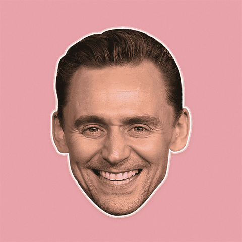 Happy Tom Hiddleston Mask - Perfect for Halloween, Costume Party Mask, Masquerades, Parties, Festivals, Concerts - Jumbo Size Waterproof Laminated Mask