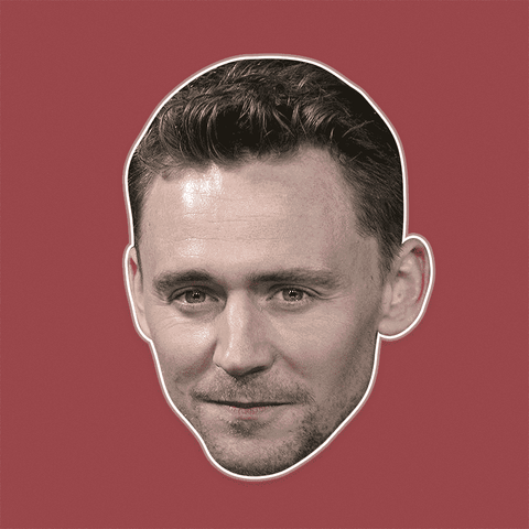 Sexy Tom Hiddleston Mask - Perfect for Halloween, Costume Party Mask, Masquerades, Parties, Festivals, Concerts - Jumbo Size Waterproof Laminated Mask
