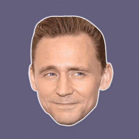 Silly Tom Hiddleston Mask - Perfect for Halloween, Costume Party Mask, Masquerades, Parties, Festivals, Concerts - Jumbo Size Waterproof Laminated Mask