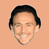 Surprised Tom Hiddleston Mask - Perfect for Halloween, Costume Party Mask, Masquerades, Parties, Festivals, Concerts - Jumbo Size Waterproof Laminated Mask