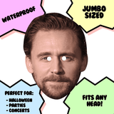 Confused Tom Hiddleston Mask - Perfect for Halloween, Costume Party Mask, Masquerades, Parties, Festivals, Concerts - Jumbo Size Waterproof Laminated Mask
