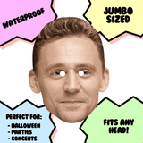 Cool Tom Hiddleston Mask - Perfect for Halloween, Costume Party Mask, Masquerades, Parties, Festivals, Concerts - Jumbo Size Waterproof Laminated Mask