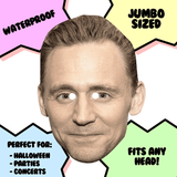 Excited Tom Hiddleston Mask - Perfect for Halloween, Costume Party Mask, Masquerades, Parties, Festivals, Concerts - Jumbo Size Waterproof Laminated Mask
