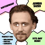 Neutral Tom Hiddleston Mask - Perfect for Halloween, Costume Party Mask, Masquerades, Parties, Festivals, Concerts - Jumbo Size Waterproof Laminated Mask