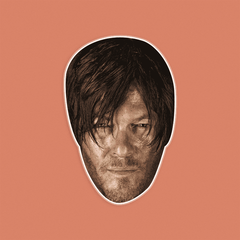 Sexy Walking Dead Daryl Mask - Perfect for Halloween, Costume Party Mask, Masquerades, Parties, Festivals, Concerts - Jumbo Size Waterproof Laminated Mask