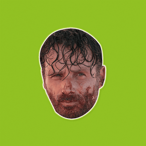 Bloody Walking Dead Rick Mask - Perfect for Halloween, Costume Party Mask, Masquerades, Parties, Festivals, Concerts - Jumbo Size Waterproof Laminated Mask