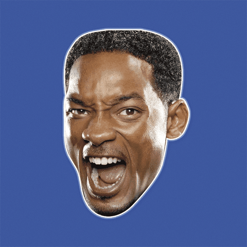 Angry Will Smith Mask by RapMasks