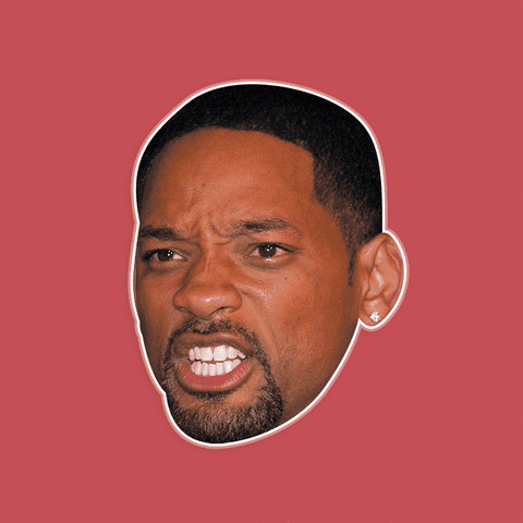 Disgusted Will Smith Mask - Perfect for Halloween, Costume Party Mask, Masquerades, Parties, Festivals, Concerts - Jumbo Size Waterproof Laminated Mask