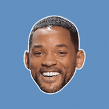 Excited Will Smith Mask - Perfect for Halloween, Costume Party Mask, Masquerades, Parties, Festivals, Concerts - Jumbo Size Waterproof Laminated Mask