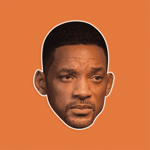 Serious Will Smith Mask by RapMasks