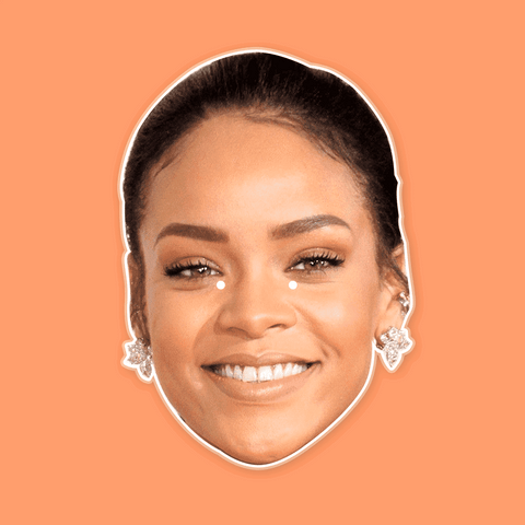 Happy Rihanna Mask - Perfect for Halloween, Costume Party Mask, Masquerades, Parties, Festivals, Concerts - Jumbo Size Waterproof Laminated Mask