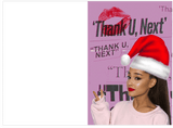 Ariana Grande Thank U Next Christmas Holiday Card (PLAYS ACTUAL SONG)