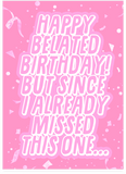 Ariana Grande Thank U Next Late Belated Birthday Card (PLAYS ACTUAL SONG)