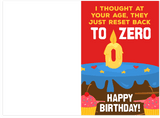 Reset Your Age Back To Zero Happy Old Birthday Card (PLAYS SOUND)