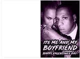 Jay-Z Beyonce 03 Bonnie & Clyde Boyfriend Girlfriend Couples Valentines Day Card Bundle Set 2 Cards (Both Cards Play Songs)