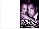 Beyonce 03 Bonnie And Clyde Boyfriend Valentines Day Card (Plays Song)