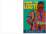 Notorious BIG Biggie Gimme The Loot Fathers Day Card (PLAYS SONG)