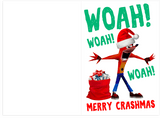 Crash Bandicoot Woah Jingle Bells Holiday Christmas Card (PLAYS MEME SOUND)