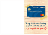 Thanks For Your Credit Card Dad Fathers Day Card (Plays Sound)