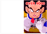 DragonBall Z Vegeta Its Over 9000 Funny Birthday Card (PLAYS SOUND)