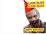 Drake BlocBoy JB Look Alive Zombie Happy Birthday Card (PLAYS ACTUAL SONG)