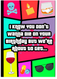 Grand Theft Auto GTA Drunk Wasted Happy Birthday Card (PLAYS WASTED SOUND EFFECT)