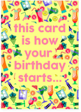 I've Fallen And Cant Get Up Drunk Birthday Card (PLAYS SOUND)