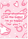 Justin Bieber Wish It Was My Baby Girl Pregnancy Card Baby Shower Card and New Baby Card (PLAYS ACTUAL SONG)